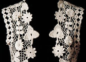 Irish crochet bodice